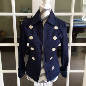Moschino Blue Engrave Buttons Blazer